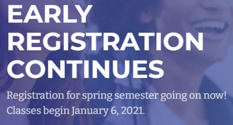 Early Registration for Local Community Colleges is Available Now!